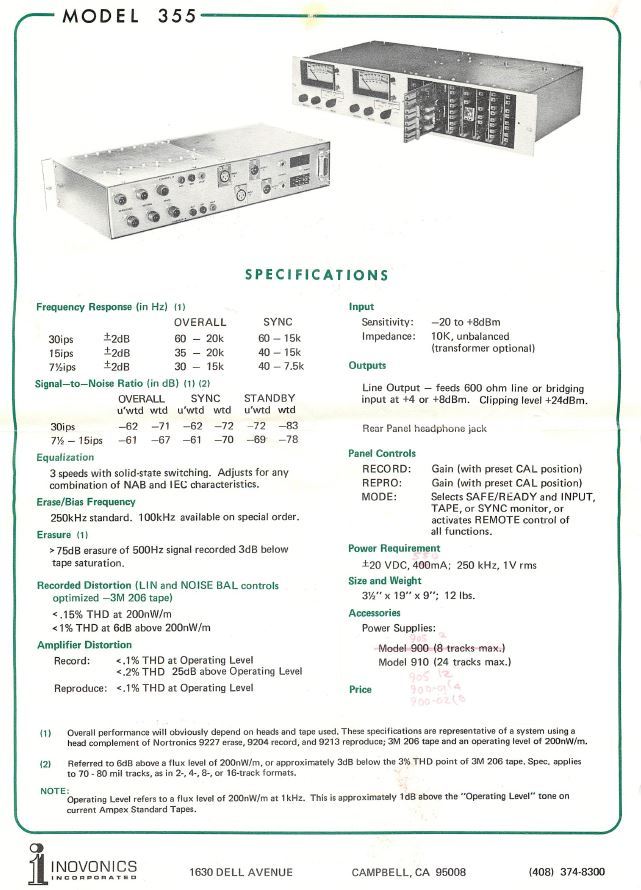 355 Data Sheet (back)