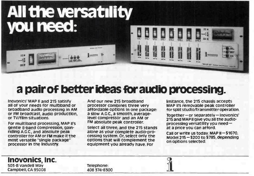 Broadcast Audio Processor - Model 215 | Inovonics Broadcast