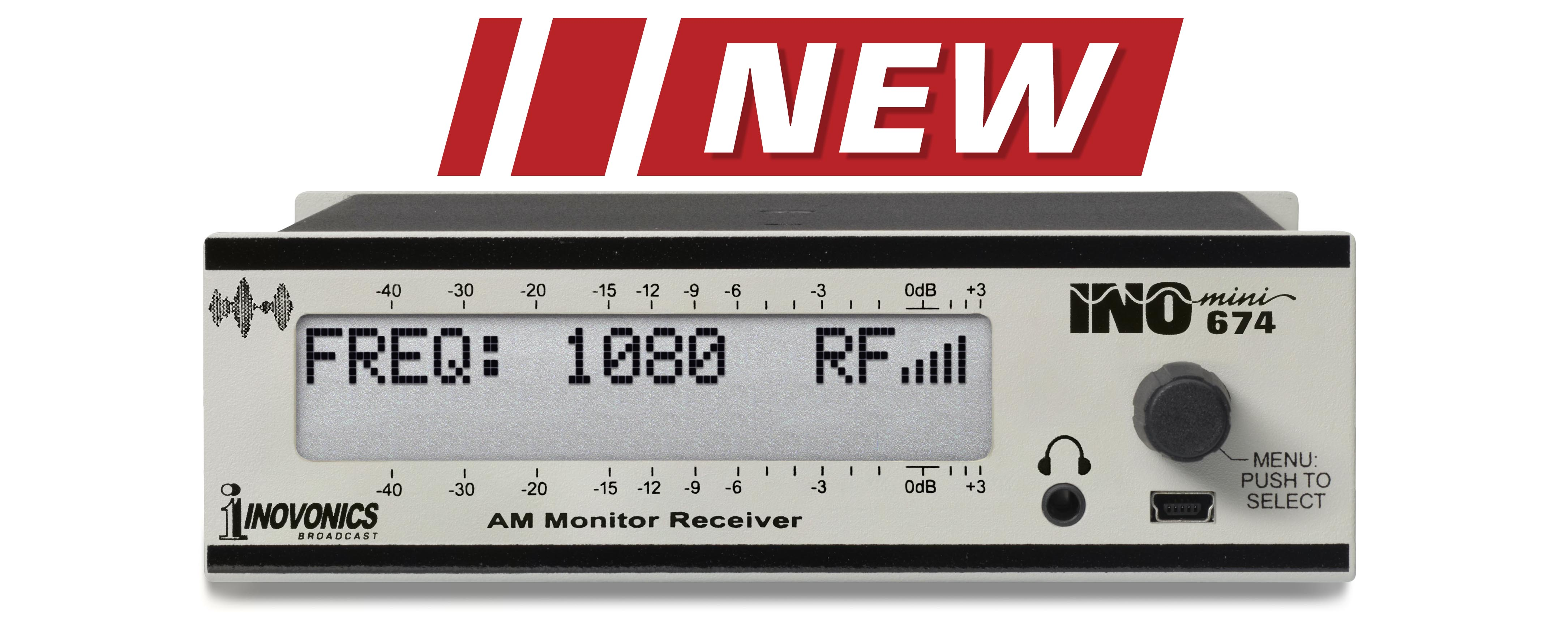 INOmini AM Broadcast Monitor/Receiver - Model 674