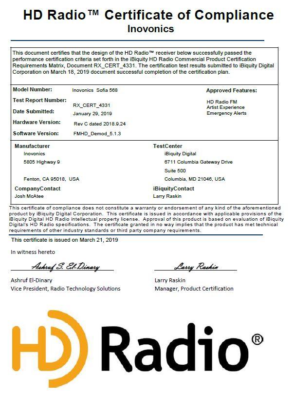 SOFIA FM/HD Radio™ SiteStreamer+™ - Model 568 | Inovonics Broadcast